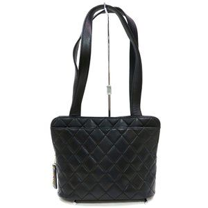Auth Chanel Quilted Tote Bag Black #3396C28